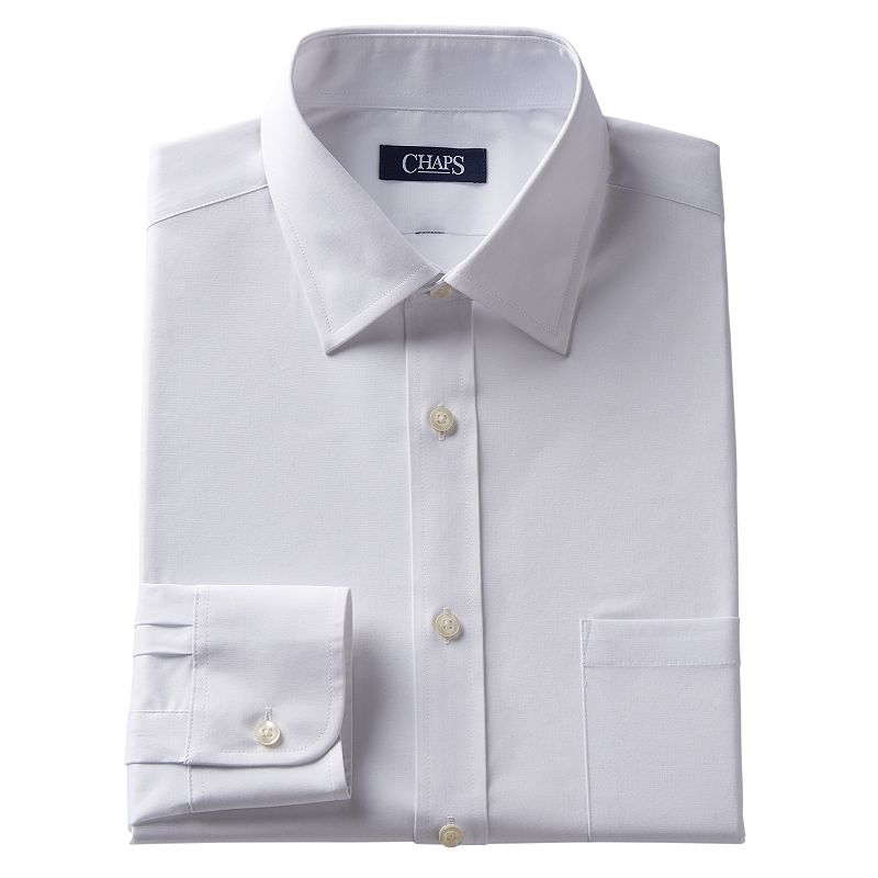 Men's Chaps Slim-Fit Wrinkle-Free Spread-Collar Dress Shirt
