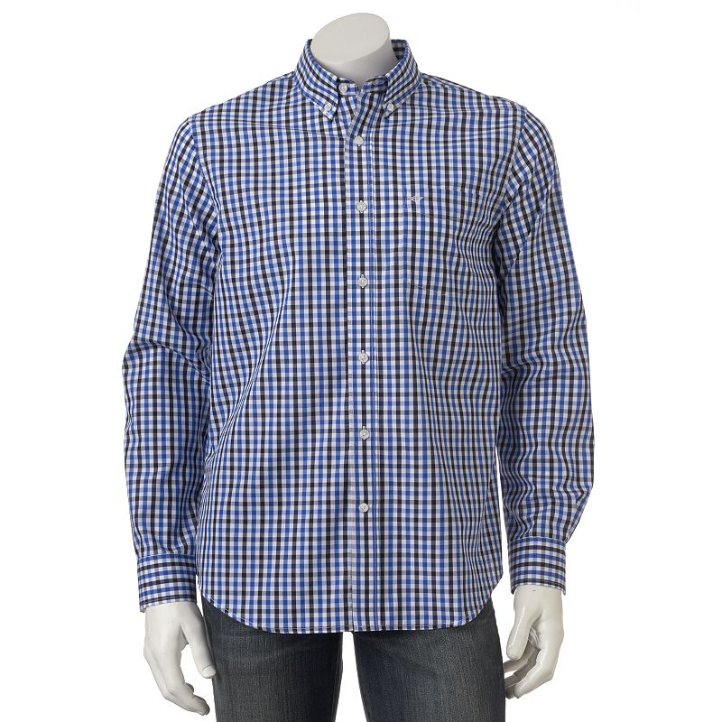 Collar Button Purple Plaid Shirt Kohl 39 S