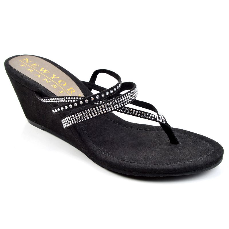 New York Transit Visualize This Women's Thong Wedge Sandals