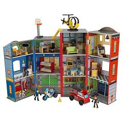 Click here to buy KidKraft Everyday Heroes Police & Fire Set.