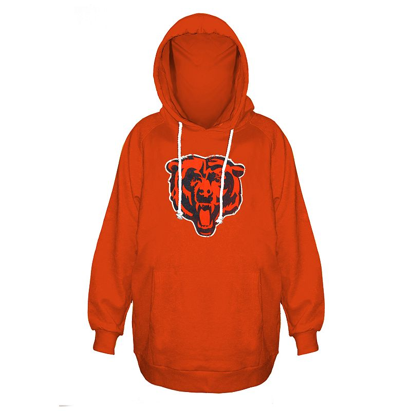 Plus Size Majestic Chicago Bears Pullover Hoodie