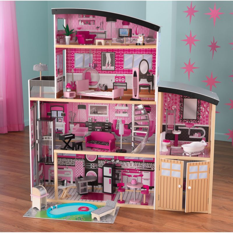 KidKraft Sparkle Mansion Dollhouse, Multicolor