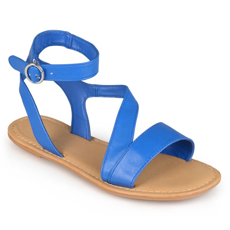journee collection crossing s gladiator flat sandals