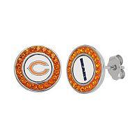 Chicago Bears Crystal Team Logo Stud Earrings