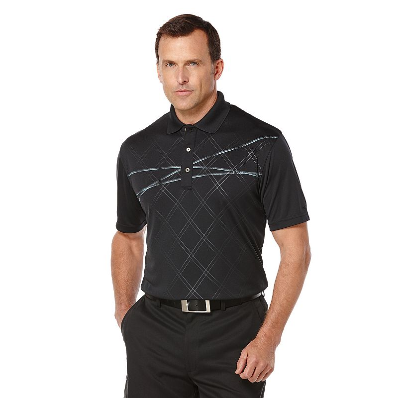 Men's Grand Slam Classic-Fit Embossed Performance Golf Polo