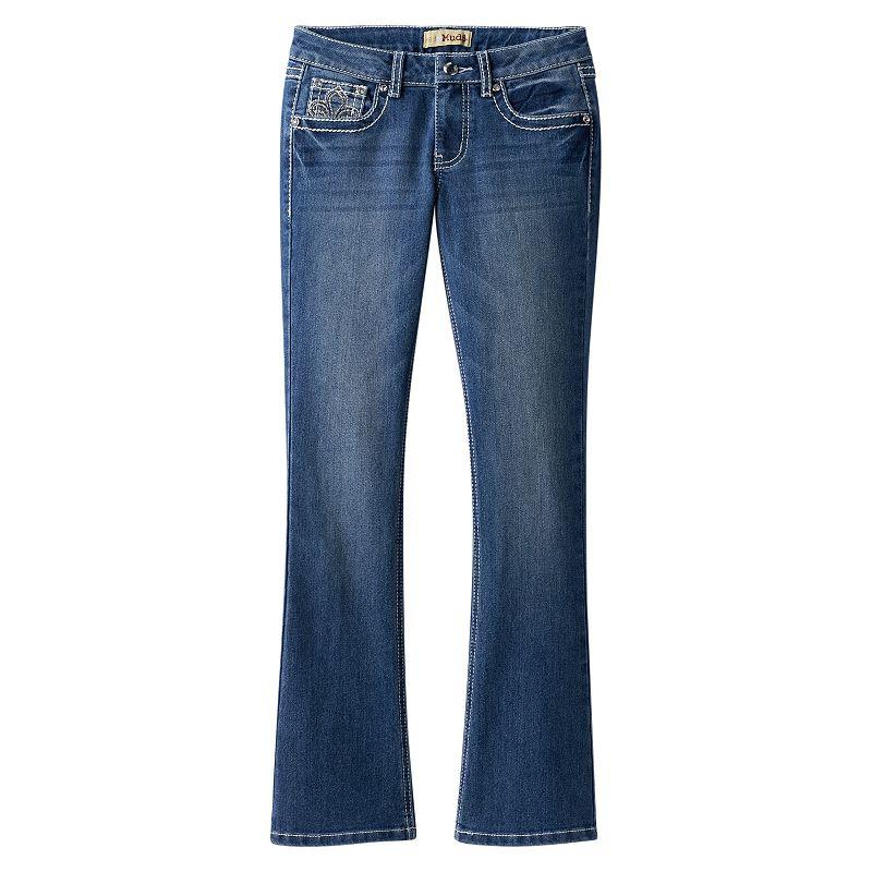 Girls' Plus Size Mudd® Rhinestone Bootcut Jeans