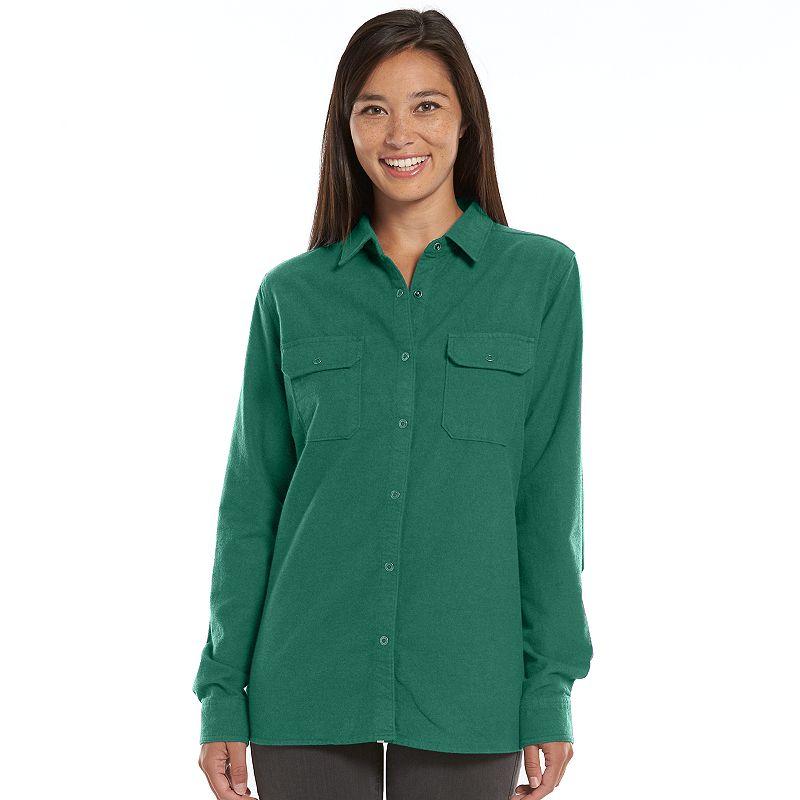 Women's Woolrich Solid Flannel Shirt