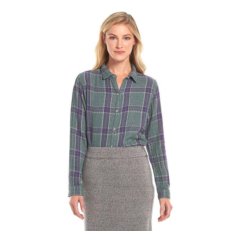 Woolrich Plaid & Herringbone Shirt - Women's