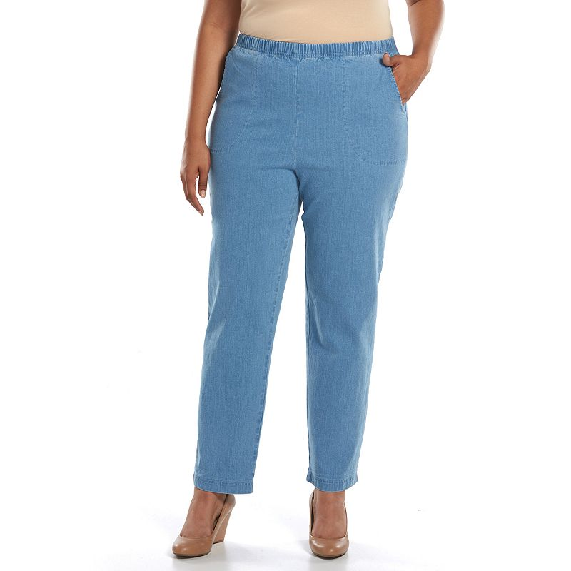 Plus Size Croft & Barrow® Tapered Pull-On Jeans