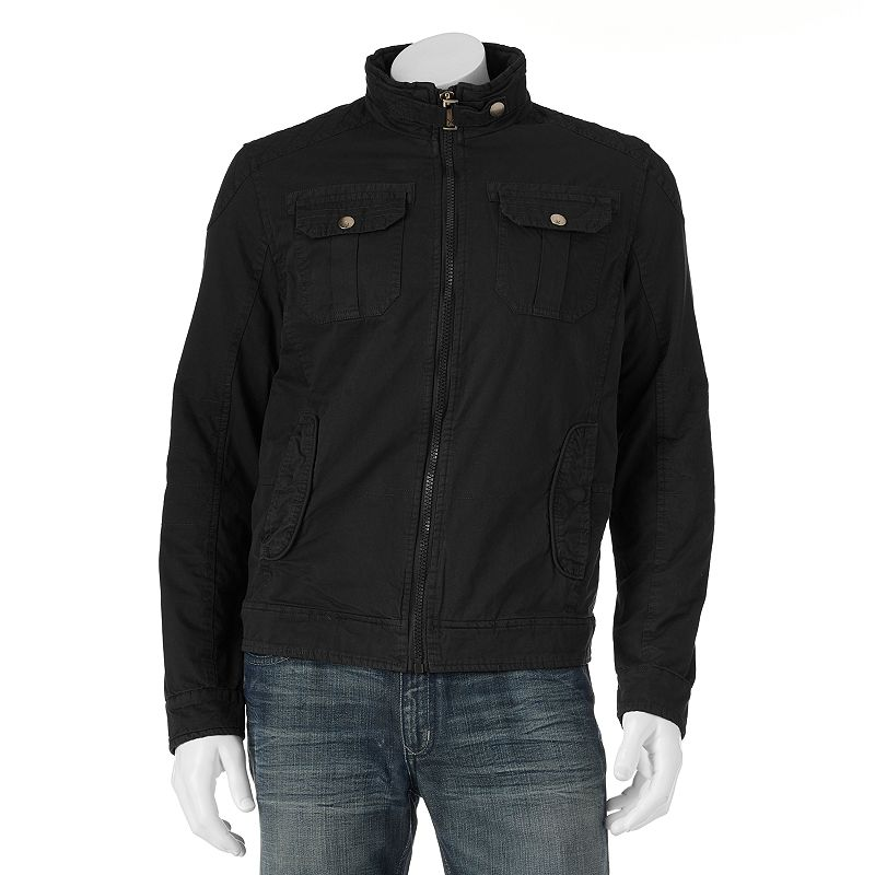 Men's XRAY Stitched Slim Belted-Collar Jacket