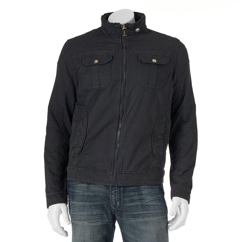 Men's XRAY Stitched Slim Belted-Collar Jacket