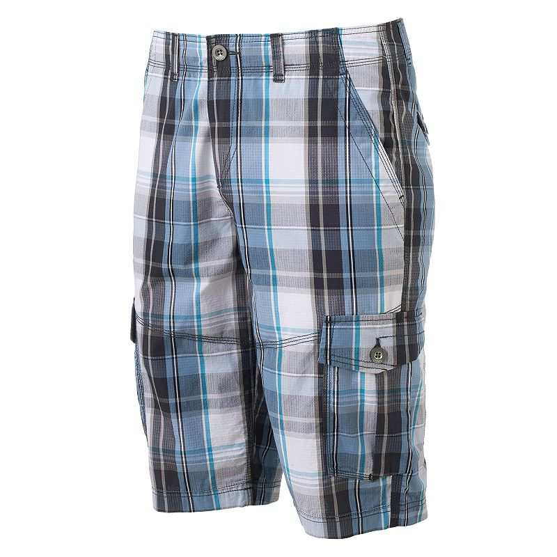 Men's Helix™ Mini Ripstop Plaid Cargo Shorts