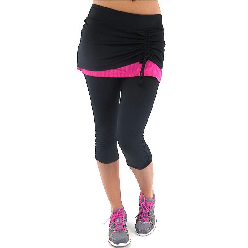 Ryka Excel Skirted Capri Workout Leggings - Women's