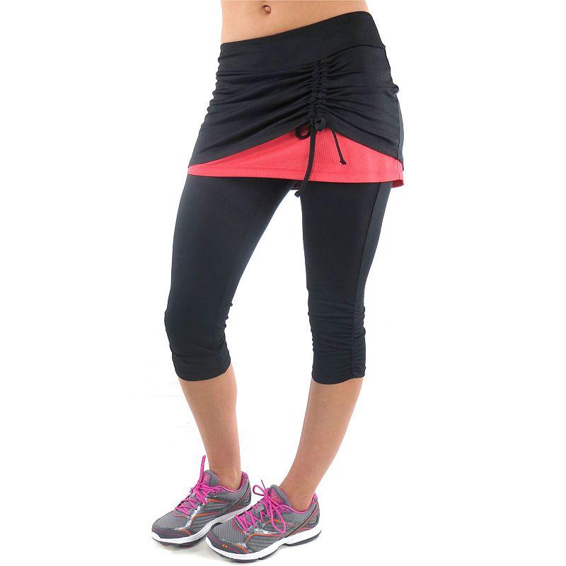 Plus Size Ryka Excel Skirted Capri Workout Leggings