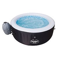 Bestway Lay-Z-Spa Inflatable 4 Person Hot Tub Spa (Black)