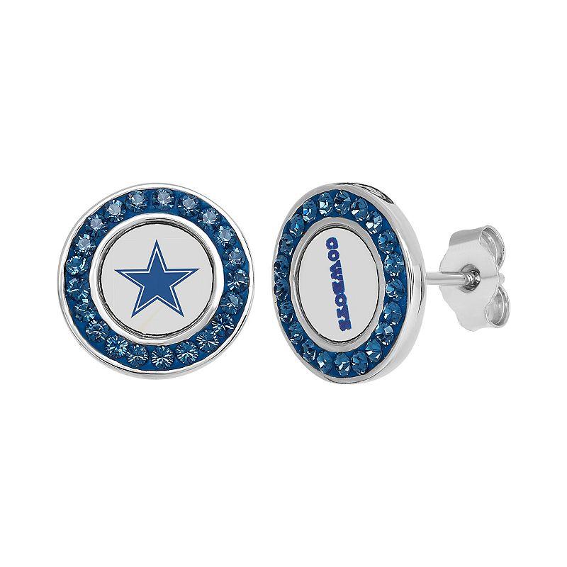 Dallas Cowboys Crystal Team Logo Stud Earrings