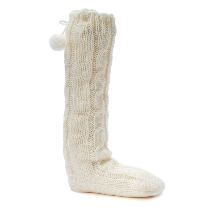Juicy Couture Marled Knee-High Knit Women's Slippers