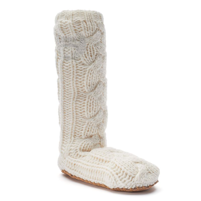 Juicy Couture Cable Knit Knee High Womens Slippers