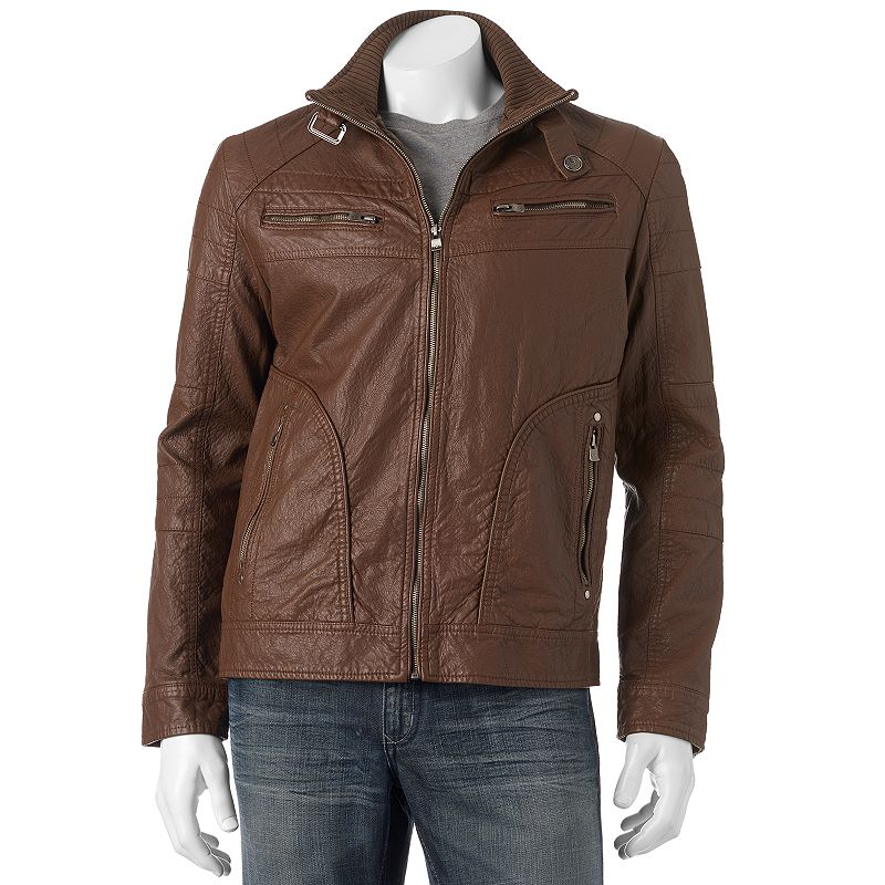 Men's XRAY Faux-Leather Moto Jacket