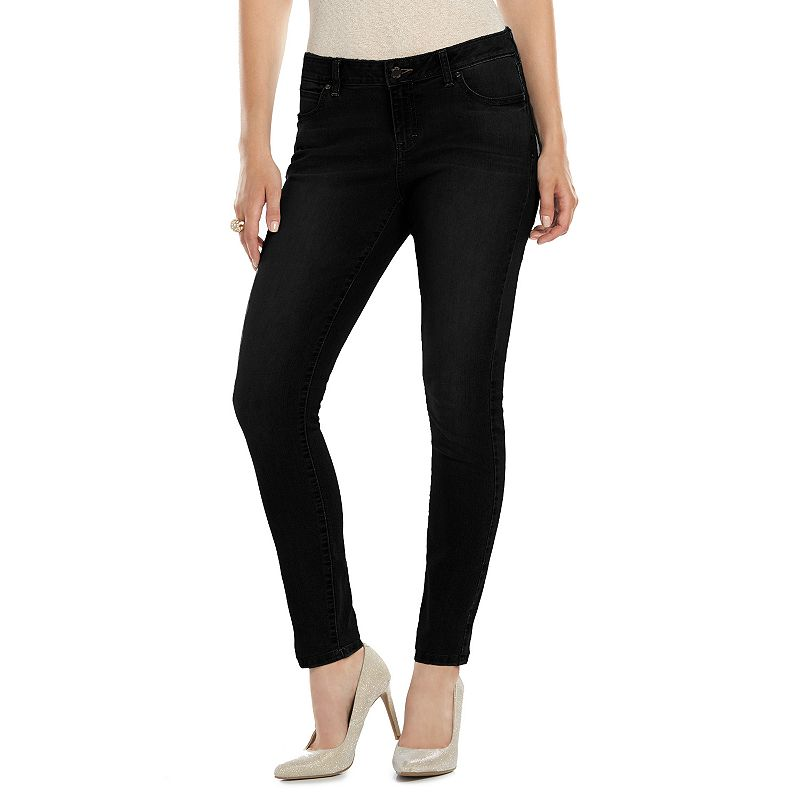Petite Jennifer Lopez Skinny Jeans, Women's, Size: 12P-Short, Black