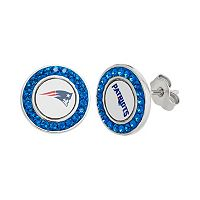 New England Patriots Crystal Team Logo Stud Earrings