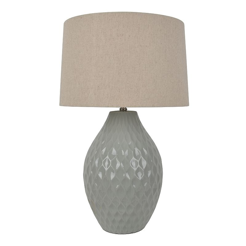 Decor Therapy Textured Ceramic Table Lamp