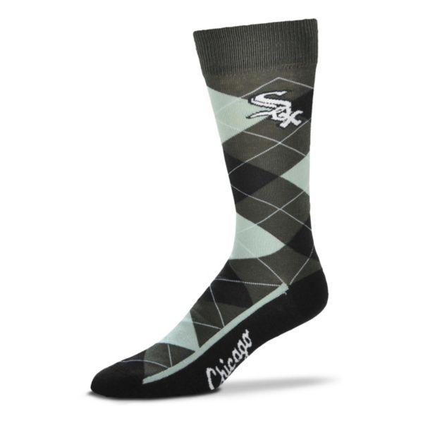 Men's For Bare Feet Chicago White Sox Argyle Dress Socks