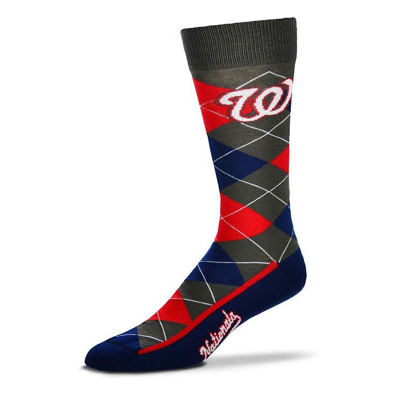 Men's For Bare Feet Washington Nationals Argyle Dress Socks