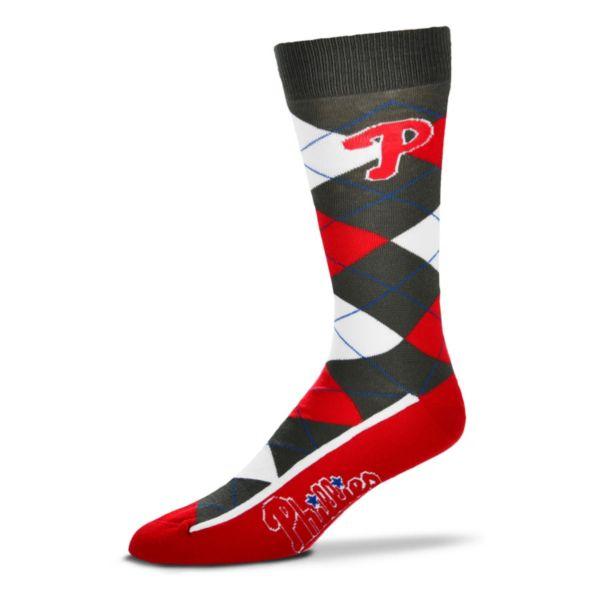 Men's For Bare Feet Philadelphia Phillies Argyle Dress Socks