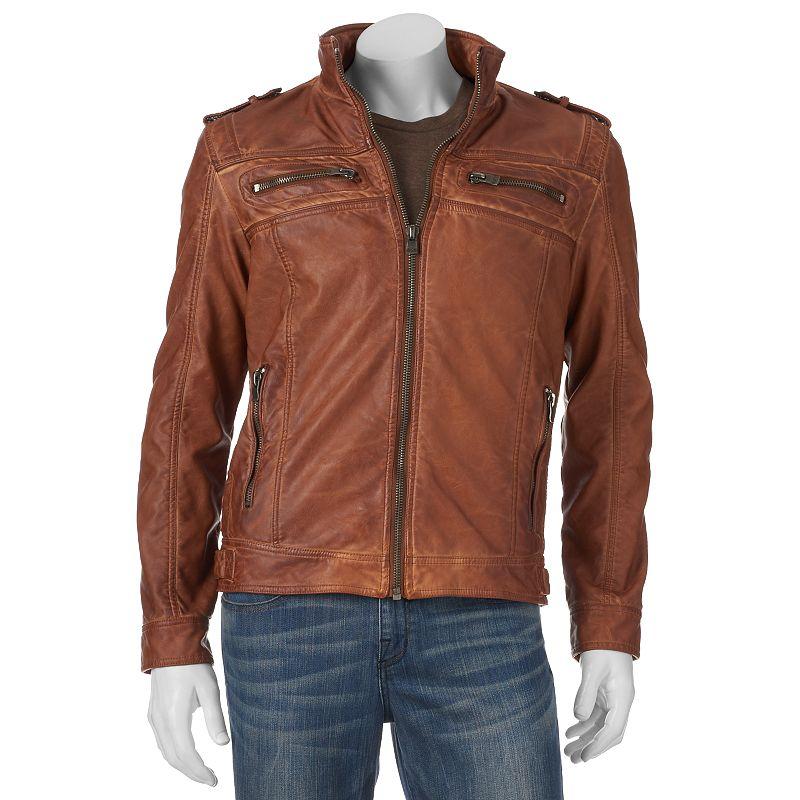 Men's XRAY Faux-Leather Moto Jacket