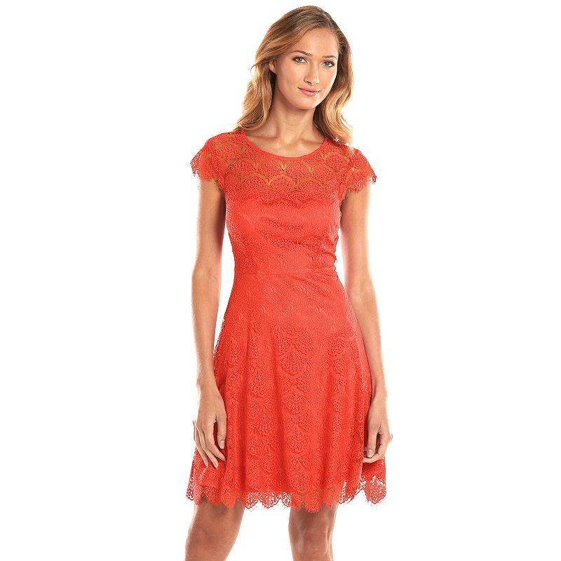 Kash & Jess Lace Fit & Flare Dress - Women's
