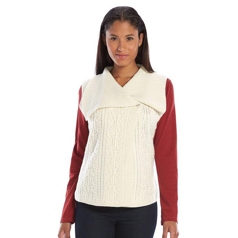 Women's Woolrich Cable-Knit Sweater Vest