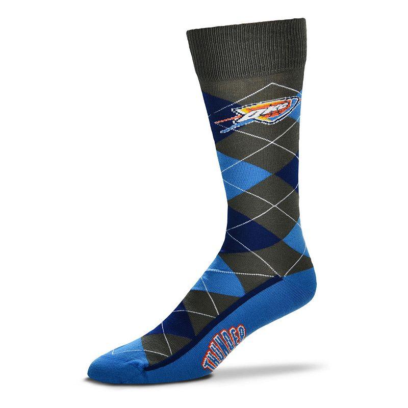 Men's For Bare Feet Oklahoma City Thunder Argyle Dress Socks