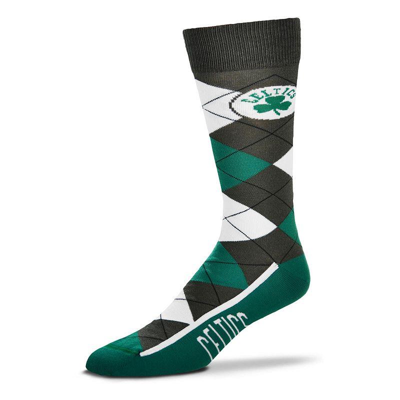 Men's For Bare Feet Boston Celtics Argyle Dress Socks