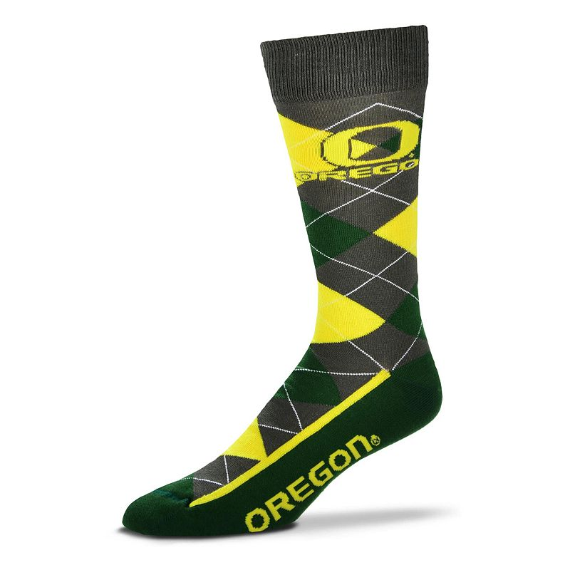 Men's For Bare Feet Oregon Ducks Argyle Dress Socks
