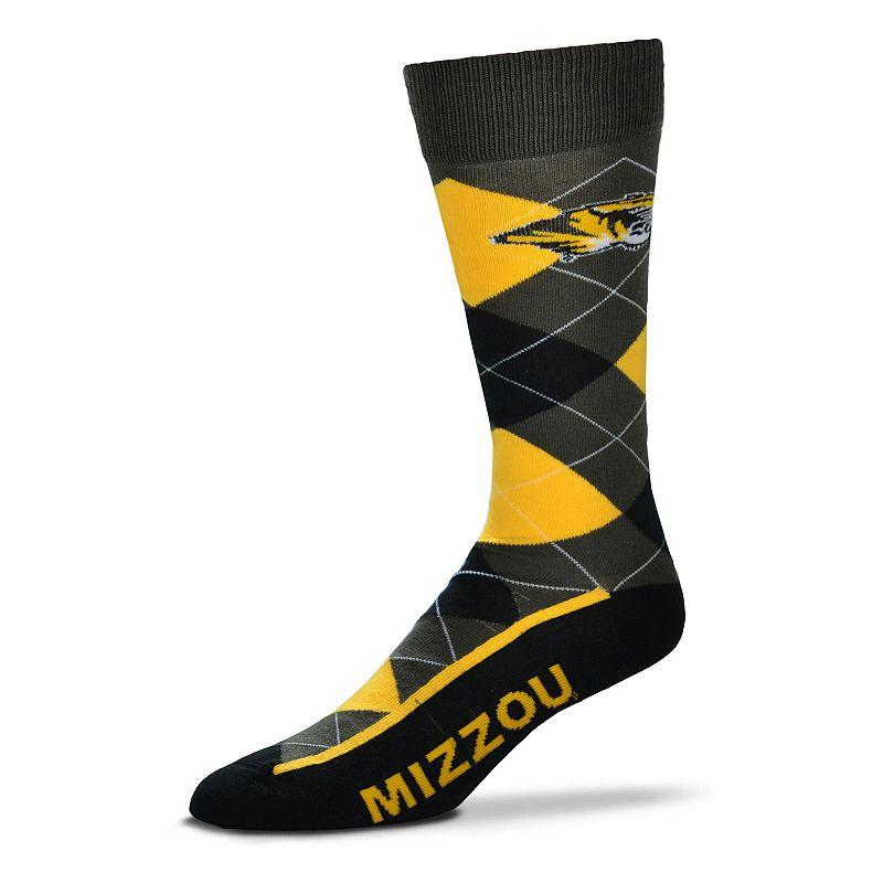 Men's For Bare Feet Missouri Tigers Argyle Dress Socks