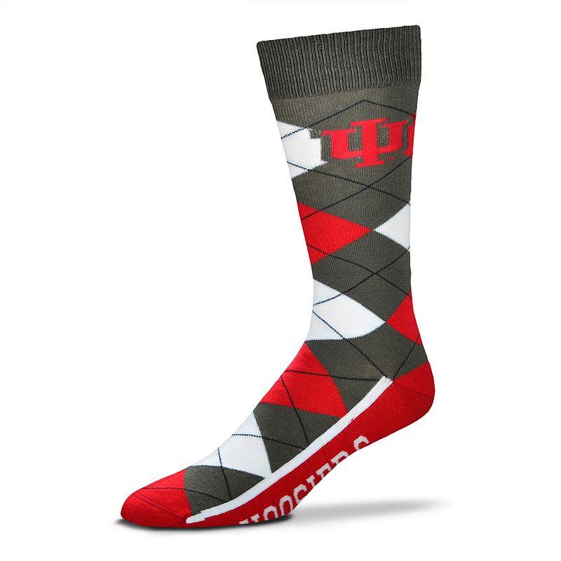 Men's For Bare Feet Indiana Hoosiers Argyle Dress Socks