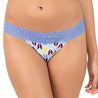 Juniors' SO® Wide Lace Thong Panty