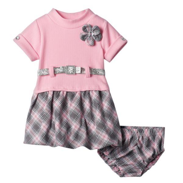 Nannette Plaid Bubble Dress - Baby Girl