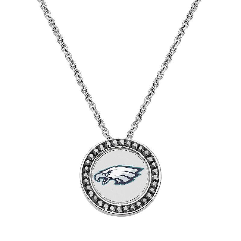 Philadelphia Eagles Team Logo Crystal Pendant Necklace - Made with Swarovski Crystals