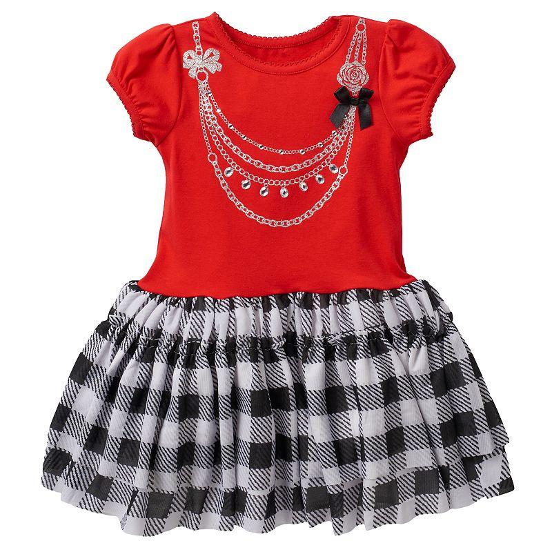Nannette Plaid Necklace Dress - Toddler Girl