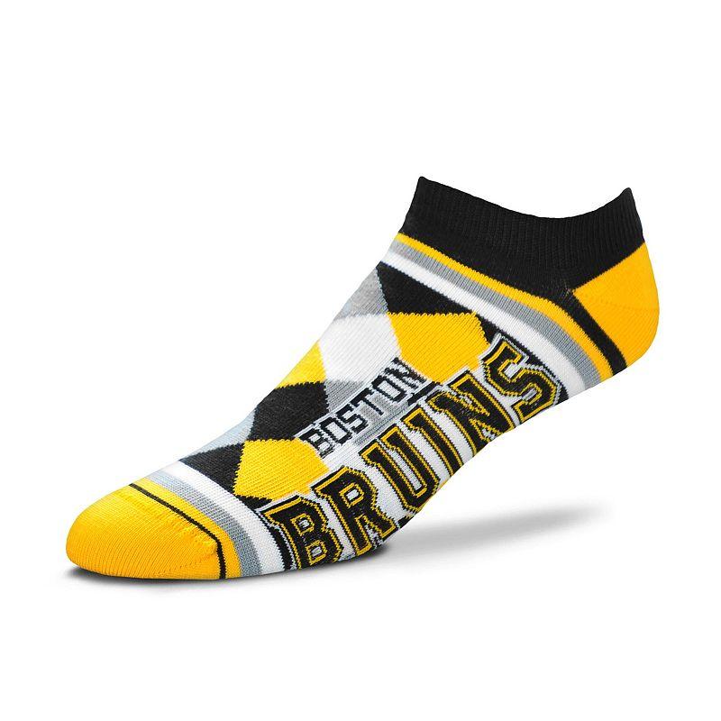 Women's For Bare Feet Boston Bruins Argyle No-Show Socks