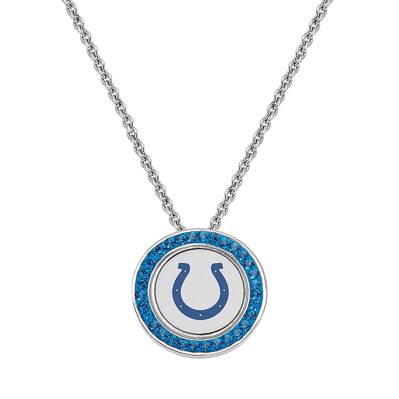 Indianapolis Colts Team Logo Crystal Pendant Necklace - Made with Swarovski Crystals