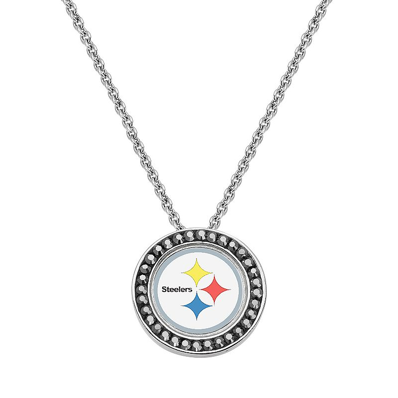 Pittsburgh Steelers Team Logo Crystal Pendant Necklace - Made with Swarovski Crystals