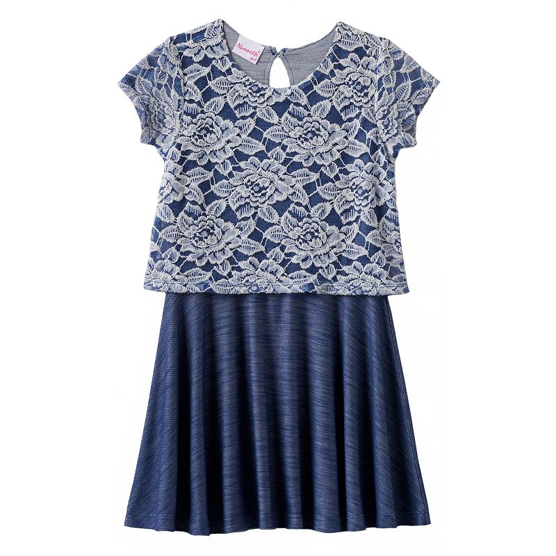Nannette Floral Lace Dress - Toddler Girl