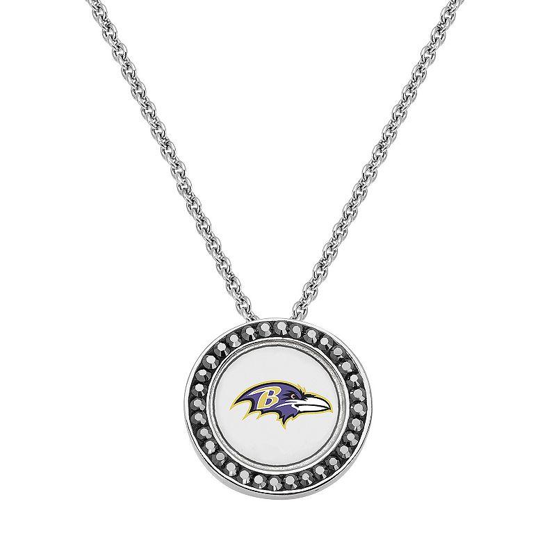 Baltimore Ravens Team Logo Crystal Pendant Necklace - Made with Swarovski Crystals