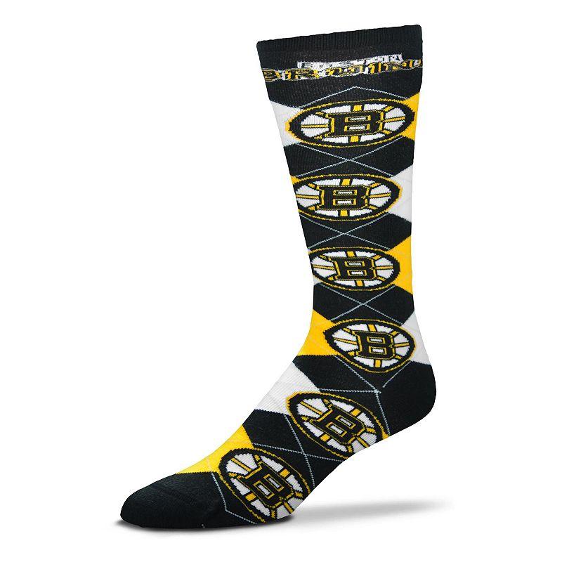 Women's For Bare Feet Boston Bruins Argyle Knee-High Socks