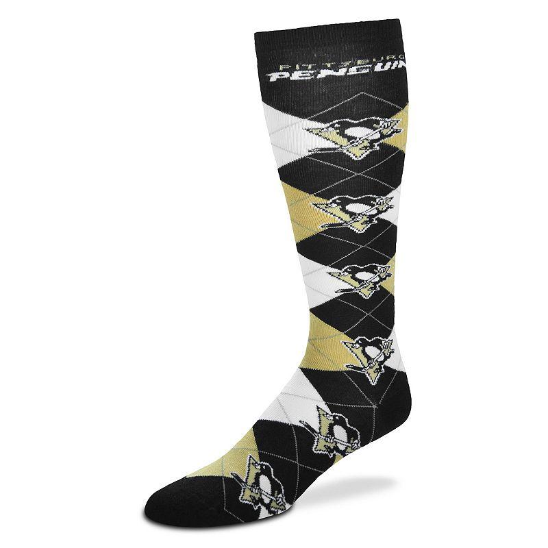 Women's For Bare Feet Pittsburgh Penguins Argyle Knee-High Socks