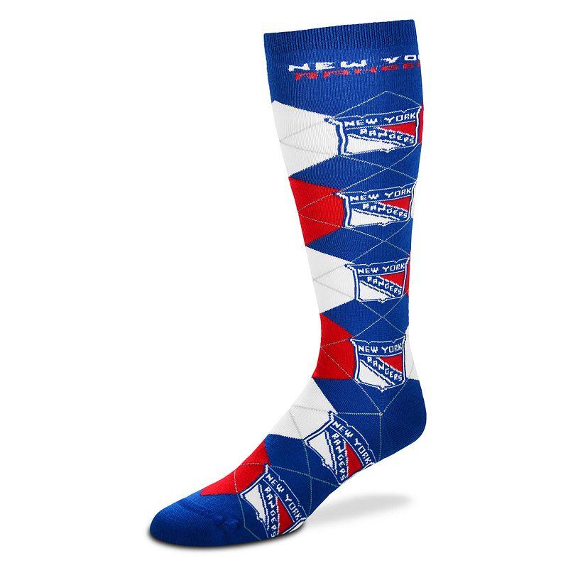Women's For Bare Feet New York Rangers Argyle Knee-High Socks