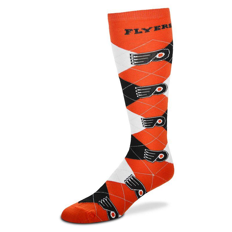 Women's For Bare Feet Philadelphia Flyers Argyle Knee-High Socks